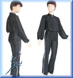 Eiskunstlauf-Oberhemd, schwarz