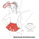 Eiskunstlaufrock Download-Schnittmuster Gr. 116 - 158