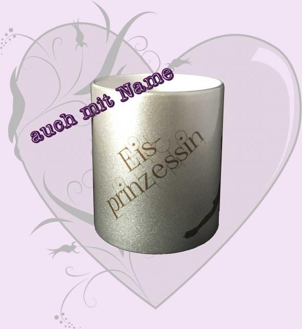 Silber-Tasse *Eisprinzessin* - mit Name möglich