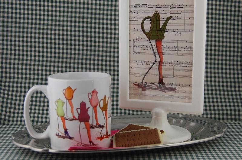 Keramikbecher Kaffeetanten