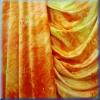 Samt Gelb-Orange mit Glitzer - bi-elastisch