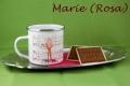 Emailletasse Kaffeetante Marie mit Kaffeekantate
