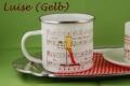 Emailletasse Kaffeetante Luise mit Kaffeekantate