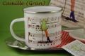 Emailletasse Kaffeetante Camille mit Kaffeekantate